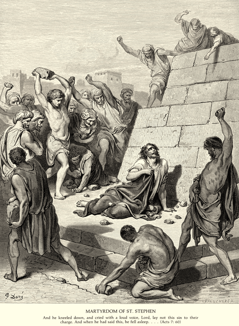 Acts 7:60 - Martyrdom of Stephen